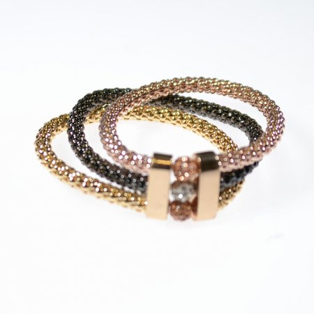 Armband drei Bänder dreifarbig elastisch Modeschmuck