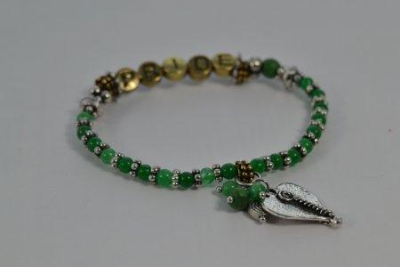 Armband grün Pride Stolz Herz Anhänger Modeschmuck