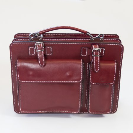 Aktentasche Leder weinrot Messenger Bag Collegetasche Business Bag