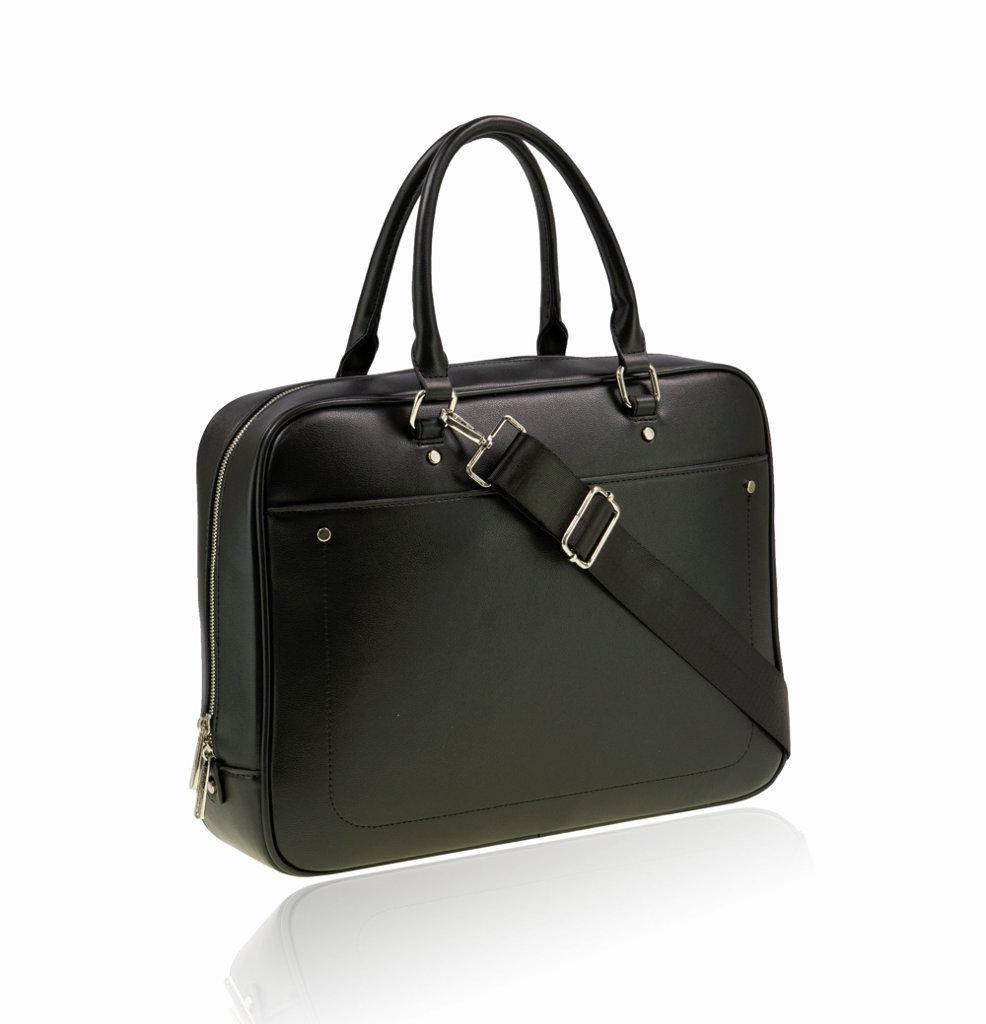 Marke David Jones Paris Farbe Schwarz Aktentasche Eco Leder Businesstasche Messengerbag unisex