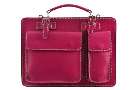 aktentasche-leder-pink-collegetasche