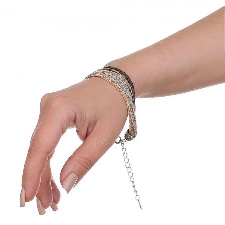 Feingliedrige Kettchen Armband Verschluss silberfarben Modeschmuck
