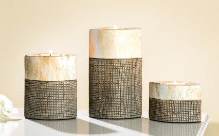 Teelichthalter Set 3teilig Keramik Teelichtleuchter Kerzenständer