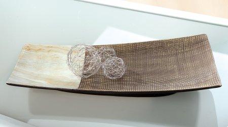Keramik Teller Dekoschale Tischdekoration Wohnaccessoire Marmoria
