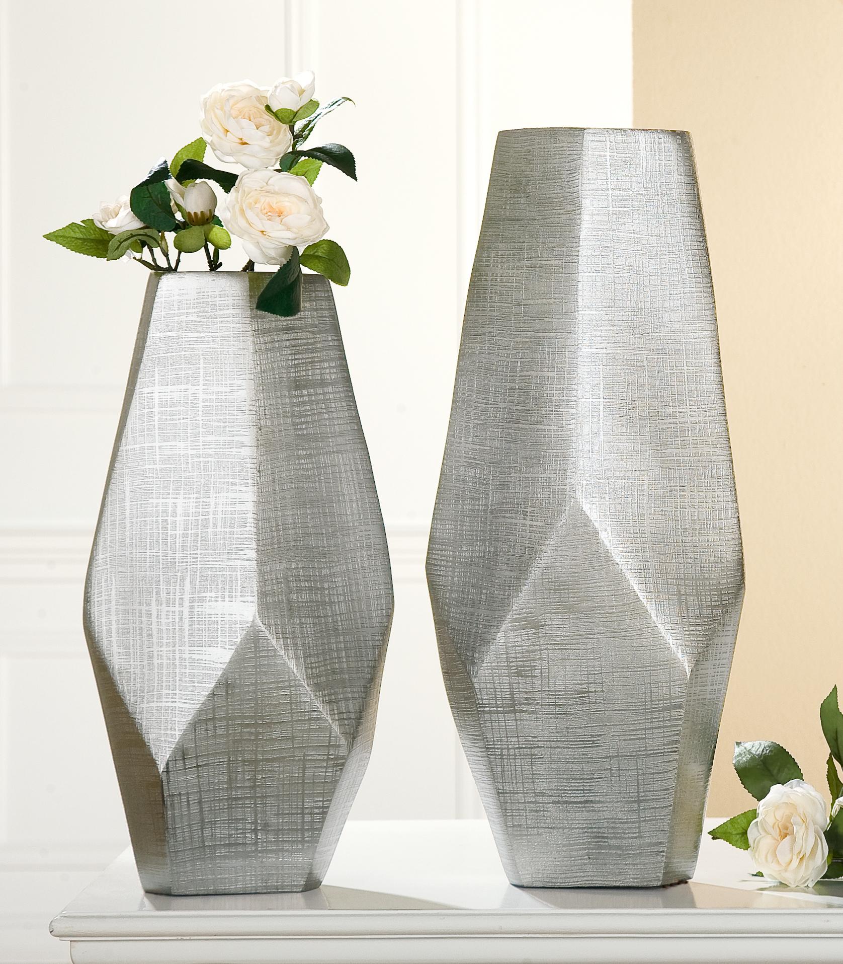 Designvasen Riga Gilde Set Aluminum Wohnaccessoire Vase