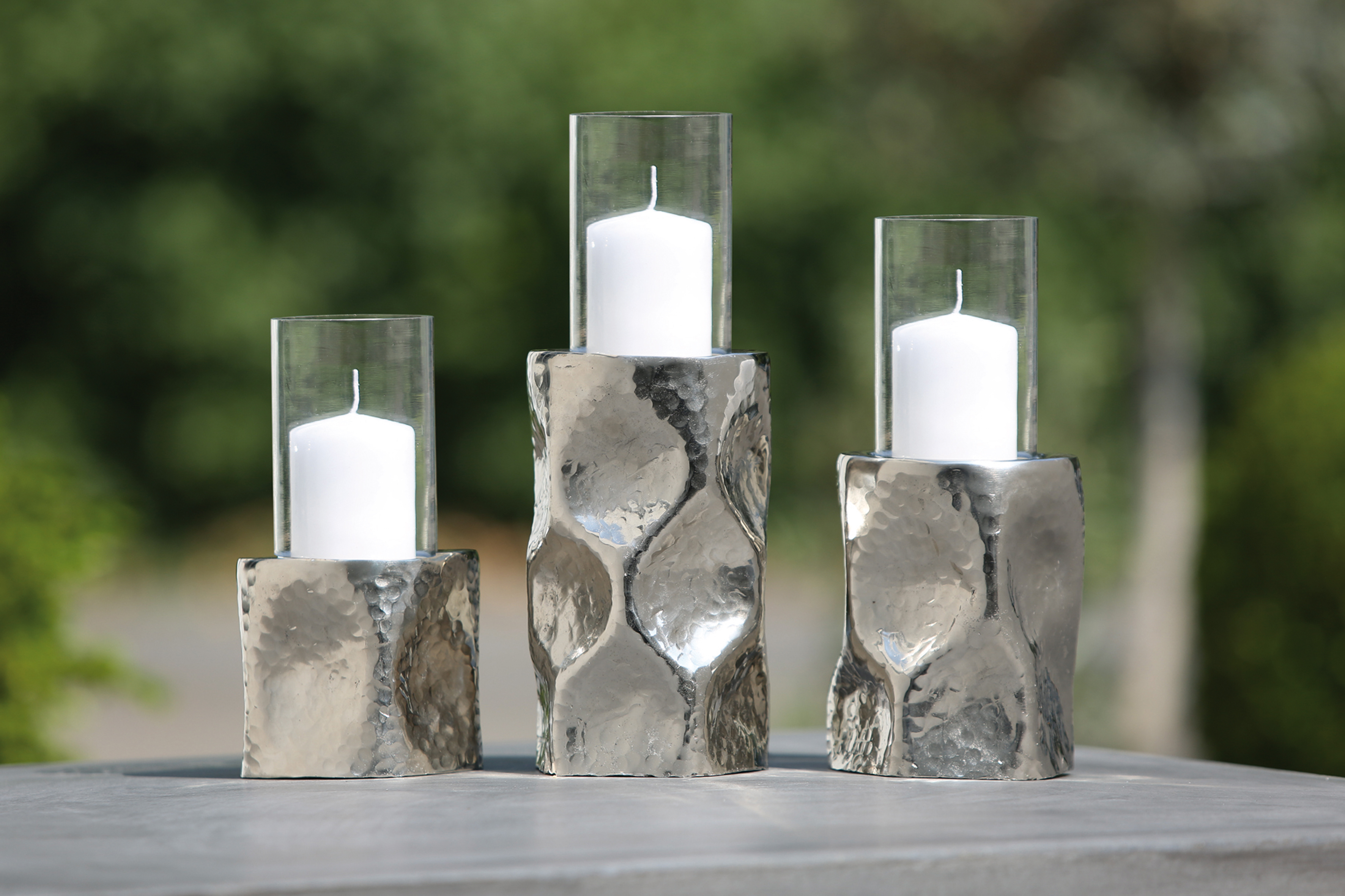 Windlichter Wabe Gilde Set Glaswindlicht Windlichtglas