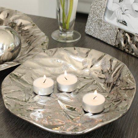 Dekoteller Valencia Gilde Handwerk silberfarben Tischdekoration