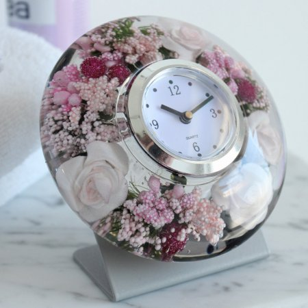 "Uhr Clock ""Little Rose"" Metall Ufo Mini Gilde Dreamlight"