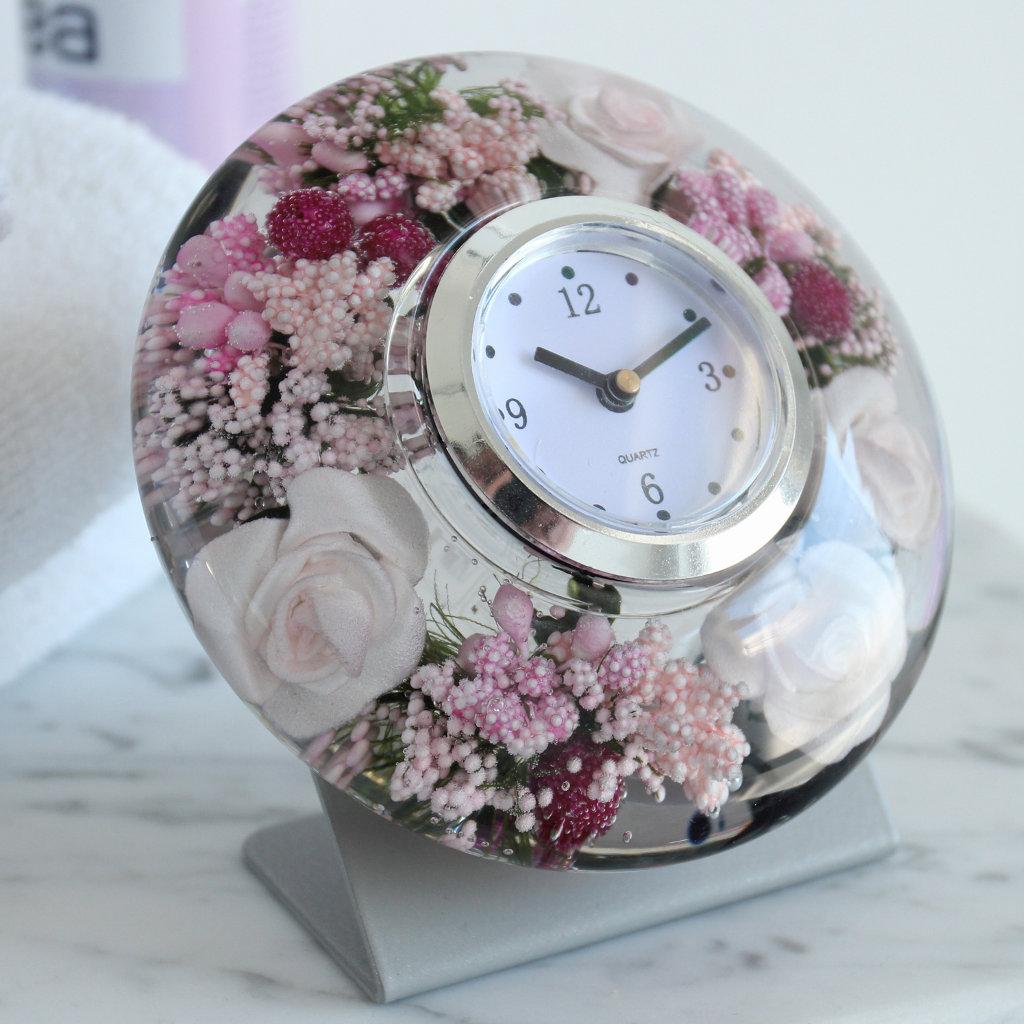 """Uhr Clock """"Little Rose"""" Metall Ufo Mini Gilde Dreamlight"""