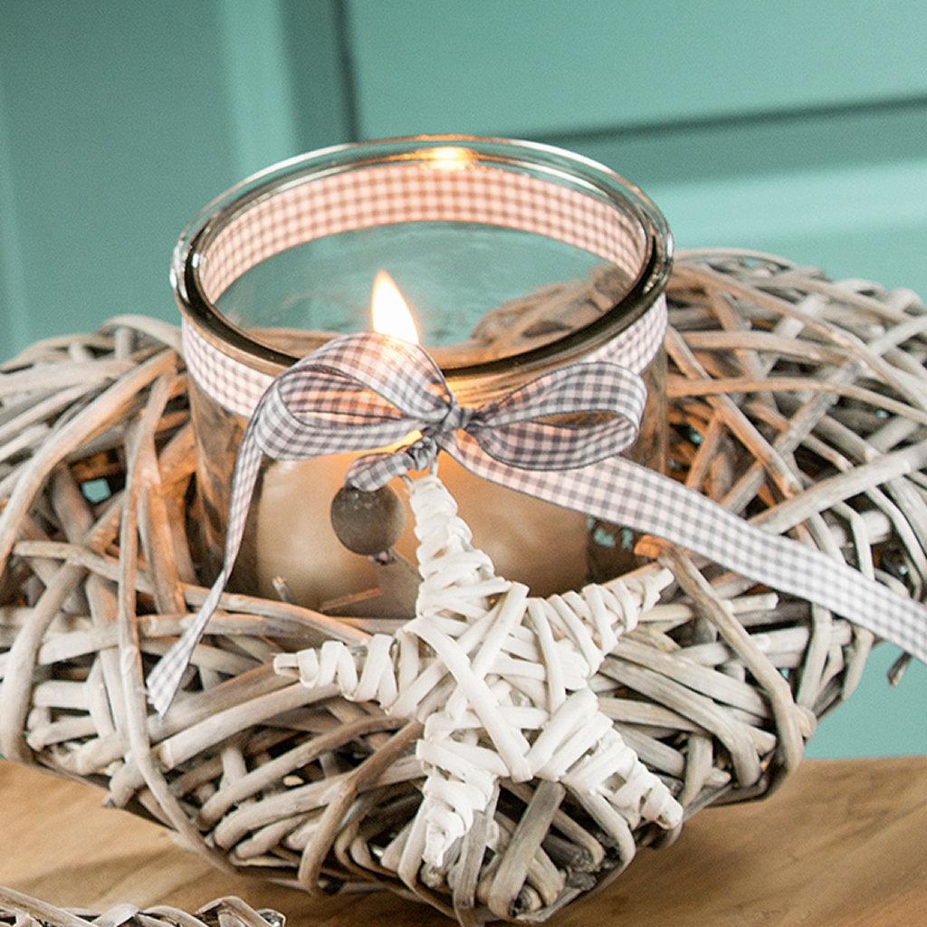 Bast Windlicht Grau Gilde Wohnaccessoire Kerzenst Nder