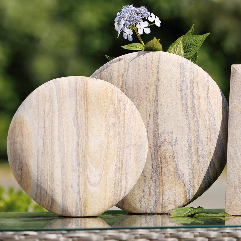 Runde Vase Rainbow Gilde Handwerk Sandstein H He 31cm