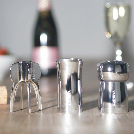Champagner Set dreiteilig elegantes Design Vagnbys Geschenkidee
