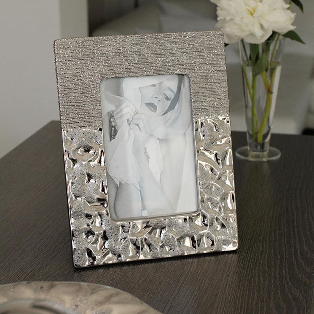 Tischaufsteller Fotorahmen silber Bilderrahmen für Fotos 10x15 cm ...