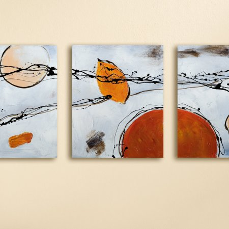 """Gemälde """"Astratto"""" Leinwand Wanddekoration Gilde Handwerk"""
