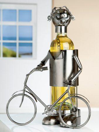 Flaschenhalter Radfahrer Fahrrad Weinflasche Gilde Handwerk