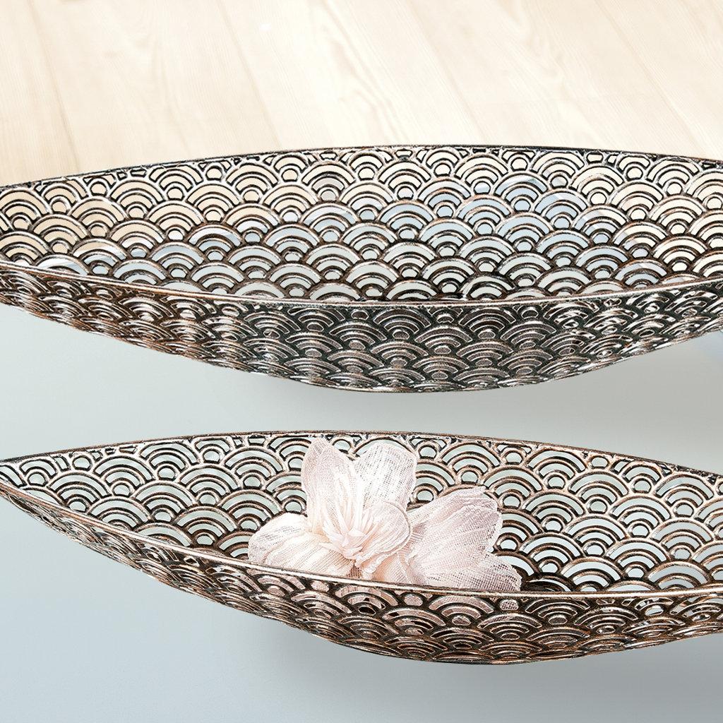 dekoschale metall antik braun 73 cm obstschale aby fashion. Black Bedroom Furniture Sets. Home Design Ideas