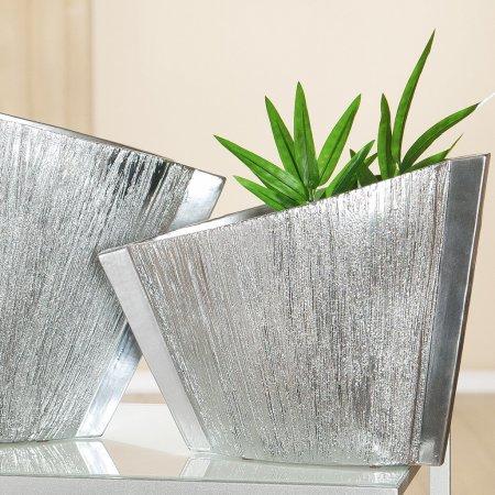 Pflanzvase oval Breite 35cm Gilde Vase Deko