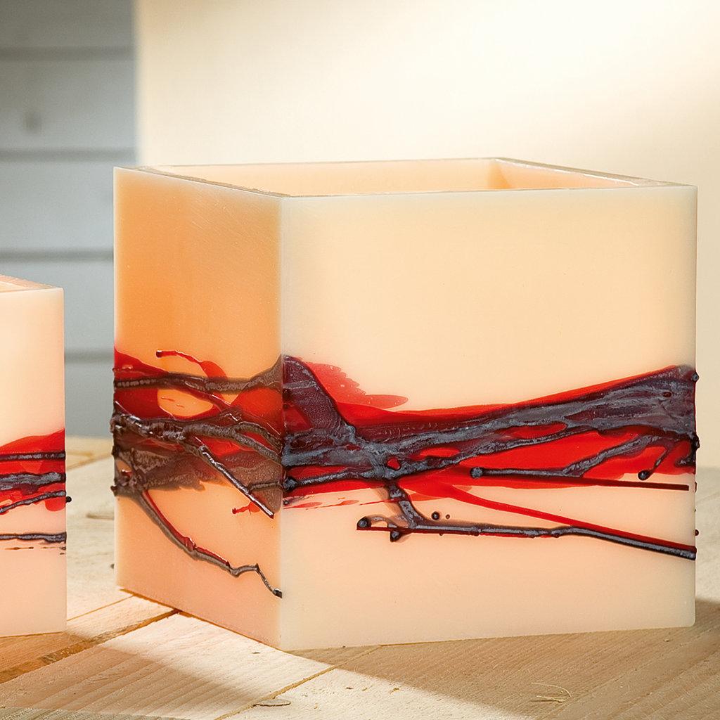Wachswindlicht Teelichthalter Kerzenständer Stimmungslicht Wachslaterne