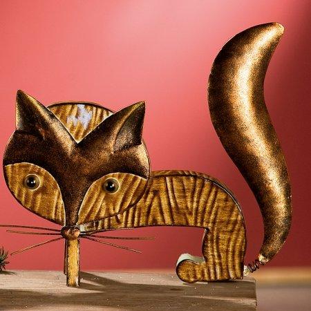 Fuchs Wackelfuchs braun kupfer Dekoration Gilde Handwerk
