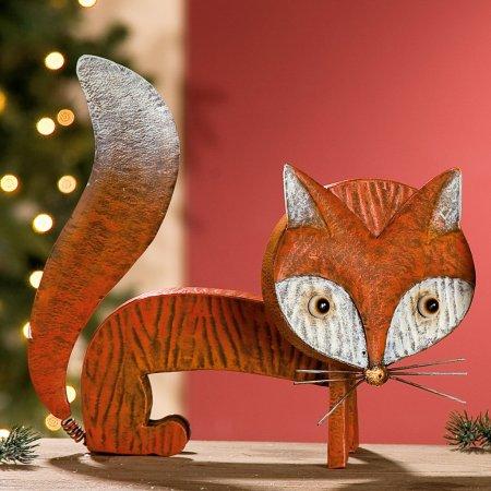 Fuchs Wackelfuchs orange kupfer Dekoration Gilde Handwerk