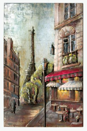 "Metallbild ""Love of Paris"" Hochformat farbig Unikat Gilde Gallery"