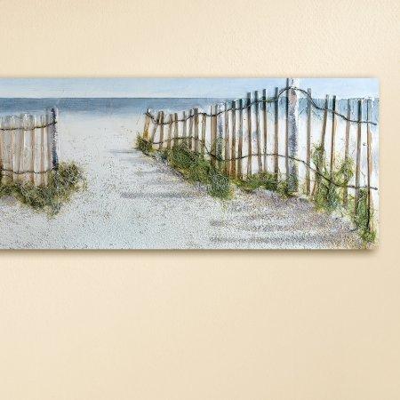 Wohndekoration Dünen-Idylle Gemälde Breite 150cm 3D-Optik Dünen Landschaft