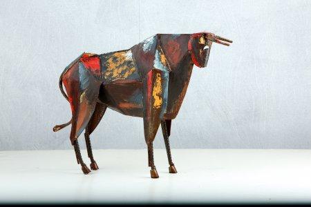 Origami Bull Stier Skulptur Kunstobjekt Handarbeit Gilde Handwerk