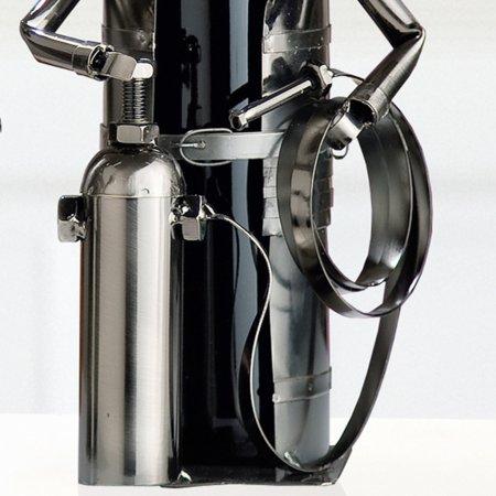 """Flaschenhalter """"Feuerwehrmann"""" vernickelt Weinflaschenhalter Gilde Handwerk"""