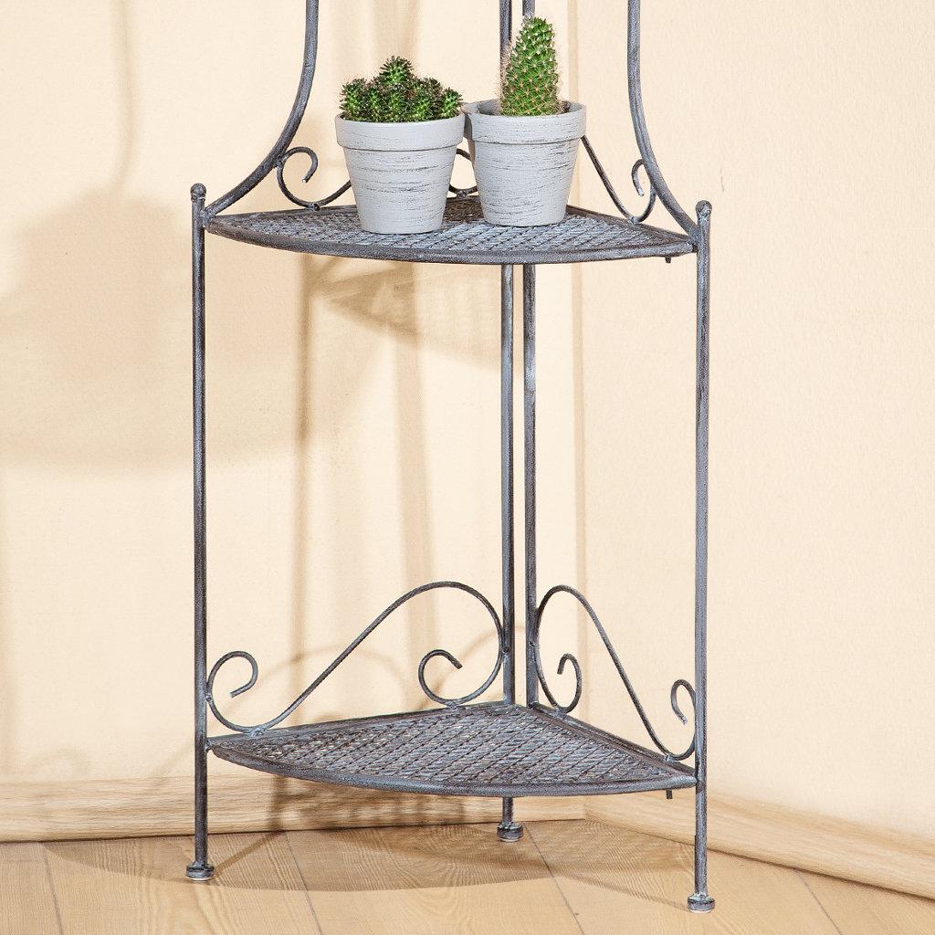 eckregal rustic metallgrau gewischt drei b den f r. Black Bedroom Furniture Sets. Home Design Ideas