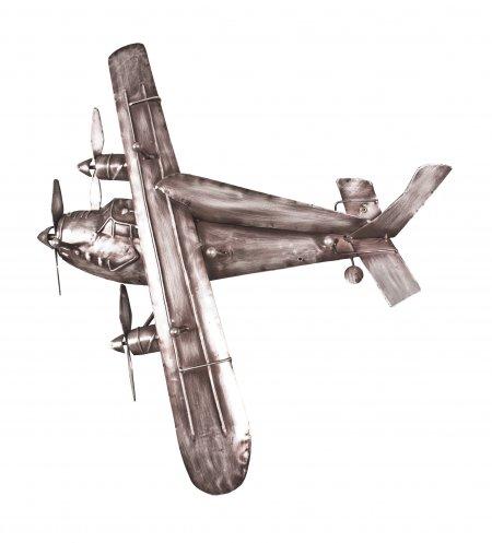 Metall Wandgarderobe Aero vintage Flugzeug