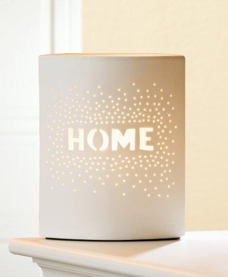 Einrichtungsidee Prickel HOME Porzellanlampe Farbe weiß Kabel weiß Gilde Handwerk
