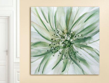 "Gemälde in Öl ""Passiflora"" Blüte Passionsblume grün Format 61x61cm Gilde"