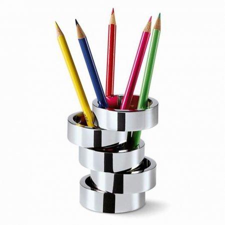 Stifthalter ROTONDO Nickel hochglanzpoliert silberfarben drehbar Philippi