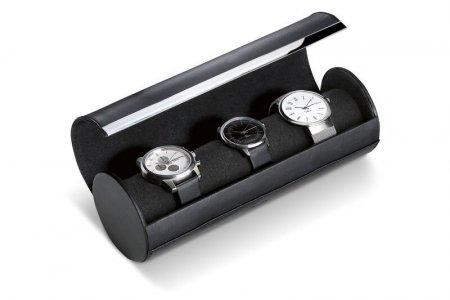 Uhrenbox GIORGIO Reiseuhrenbox lang Leder schwarz Handwerkskunst Philippi