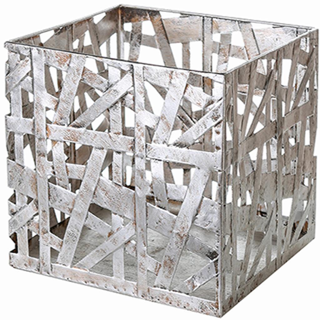 Windlicht quadratisch Metall Designobjekt Outdoor Casablanca
