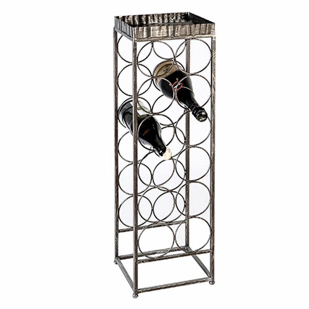 weinregal albany aus metall br niert f r zw lf flaschen. Black Bedroom Furniture Sets. Home Design Ideas