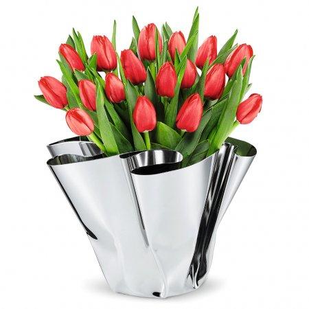 Design Vase Margeaux Edelstahl von Hand gefaltet PHILIPPI