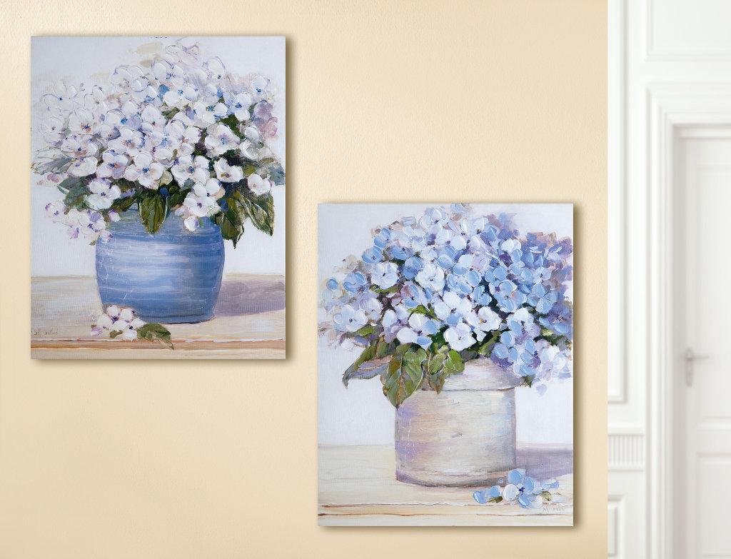 Bilder Set Hortensie Stilleben Pastelltöne Gilde Handwerk