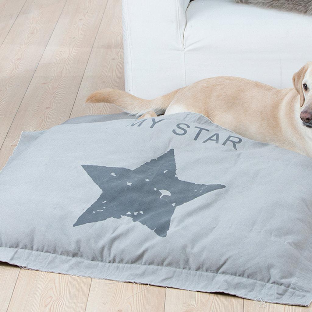 Kissen Haustier Hund Katze grau mit Stern My Star Gilde