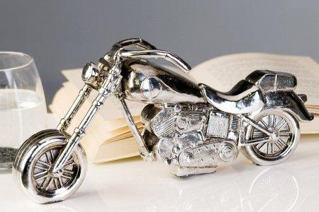 Motorrad Modell antik-silber Poly Herrengeschenk