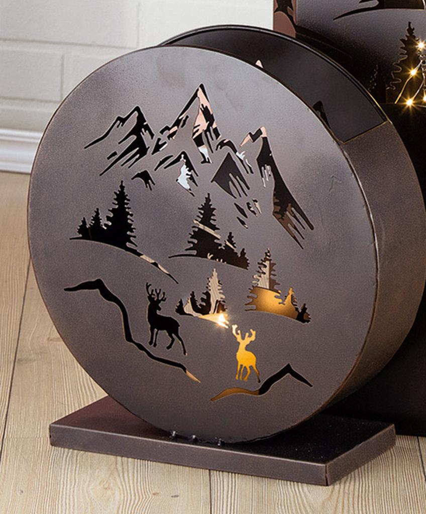 "Metall Windlicht /""Bergwelt/"""