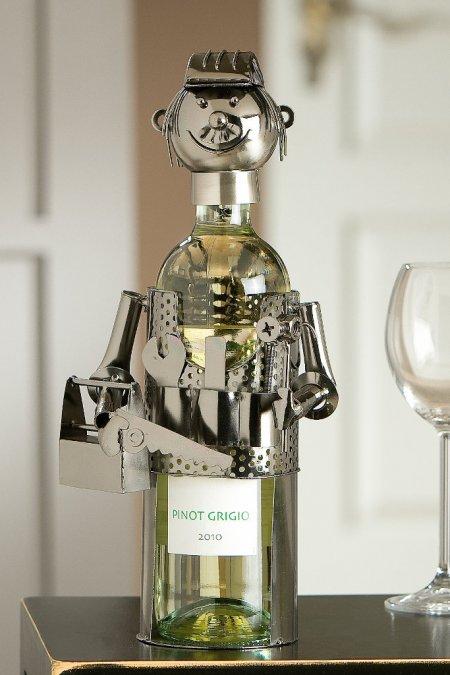 Flaschenhalter Handwerker Weinflaschenhalter Geschenkidee Gilde Handwerk