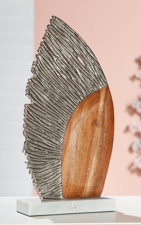 "Skulptur ""Marino"" Aluminium Marmor Mangoholz Gilde"