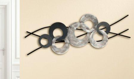 Wandrelief Bola Metall schwarz antik silber Gilde Handwerk