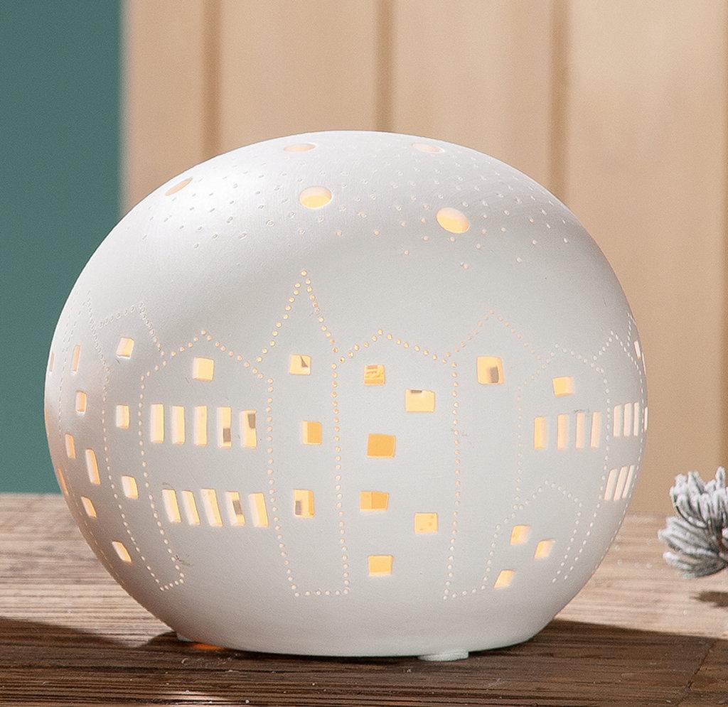 Stilvolle Beleuchtung Mit Dieser Porzellanlampe Von Gilde Handwerk