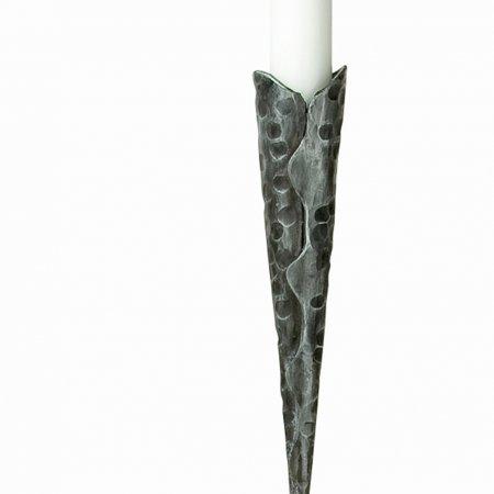 Gilde Vulcano StabkerzenleuchterKerzenleuchter Bellona einflammig Stabkerzenleuchter Eisen schwarz-antik