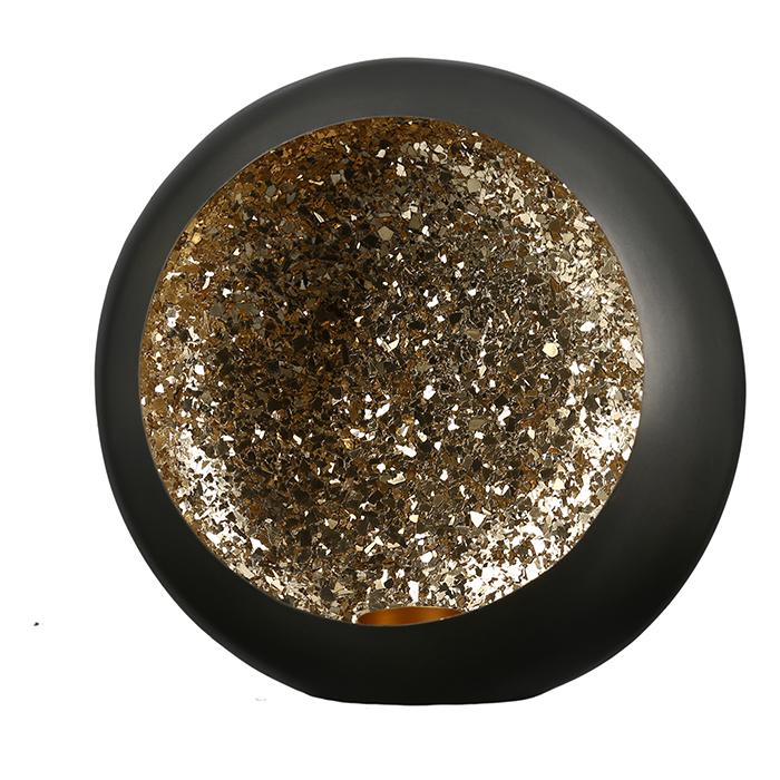 Romantische Beleuchtung Leuchter Mystical Metall Teelichthalter Anthrazit Gold zum Aufhängen