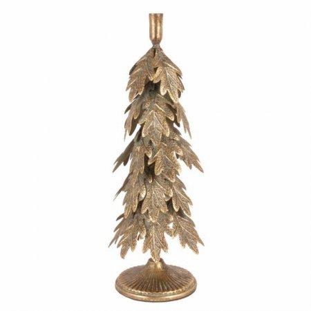 Deko candle holder Höhe 49cm Kerzenhalter Tannenbaum Goldfinish