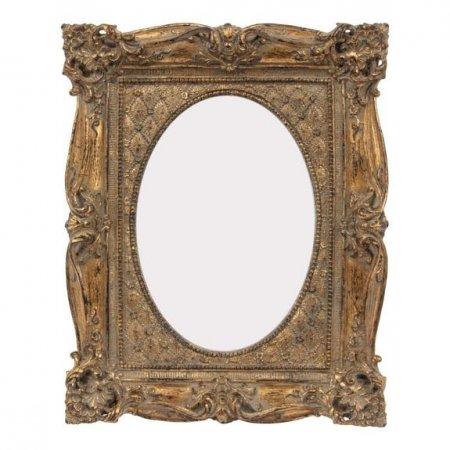 Aufsteller Deko Photo frame Bildausschnitt oval Fotos 13x18cm Baroque goldfinish