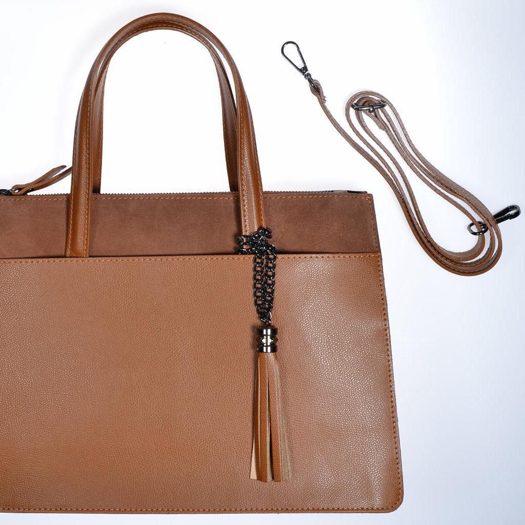 b87970e99b7e0 Damenhandtasche Leder hellbraun cognacfarben Henkeltasche Schultertasche